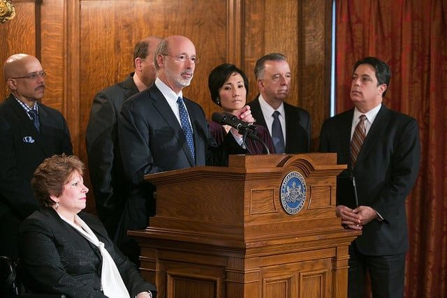 Gov. Wolf Leads Rally to Raise the Wage in Pennsylvania