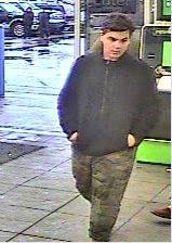 Suspect at Walmart Walmart, 2801 E Market St, on April 5th, 2019.