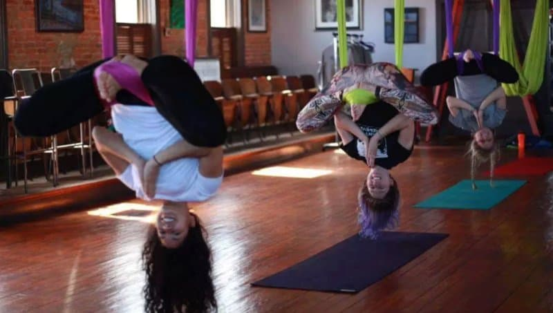 aerial yoga at Artemis the art of living